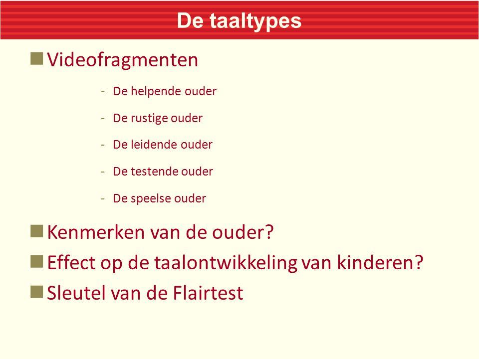 Effect op de taalontwikkeling van kinderen Sleutel van de Flairtest