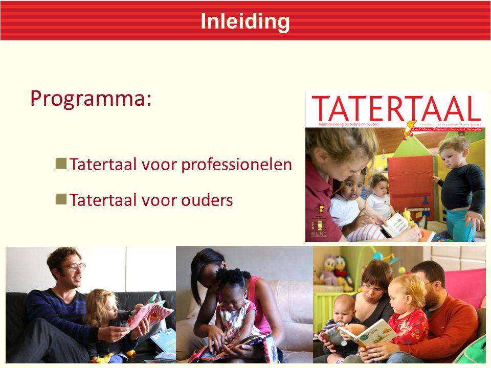 Programma: Inleiding Tatertaal voor professionelen