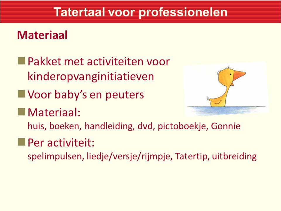 Tatertaal voor professionelen