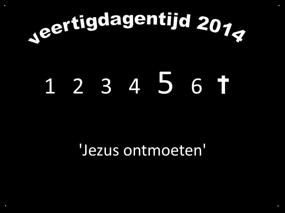 . . veertigdagentijd 2014 1 2 3 4 5 6 Jezus ontmoeten . .