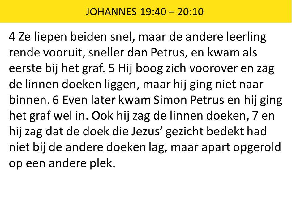 JOHANNES 19:40 – 20:10