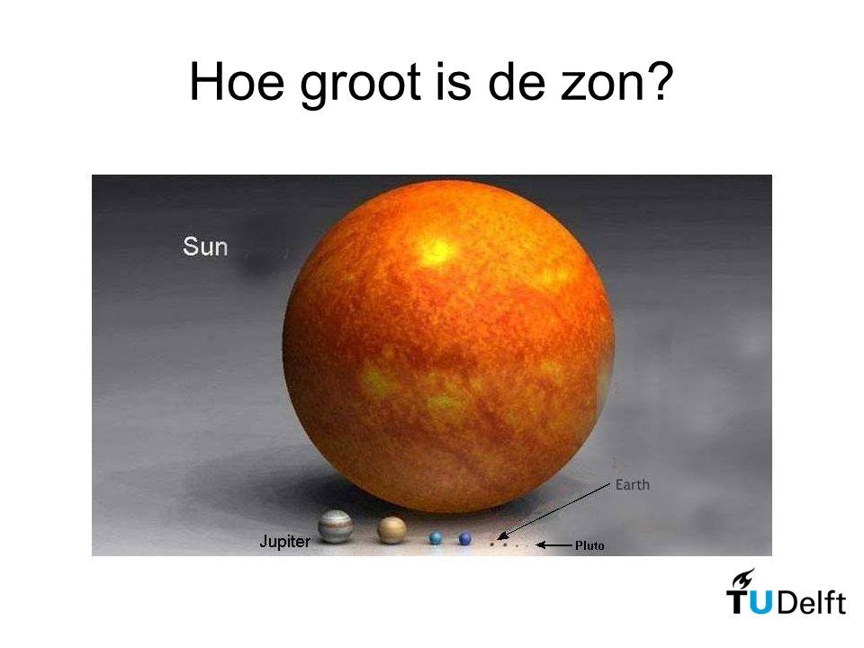 Hoe groot is de zon