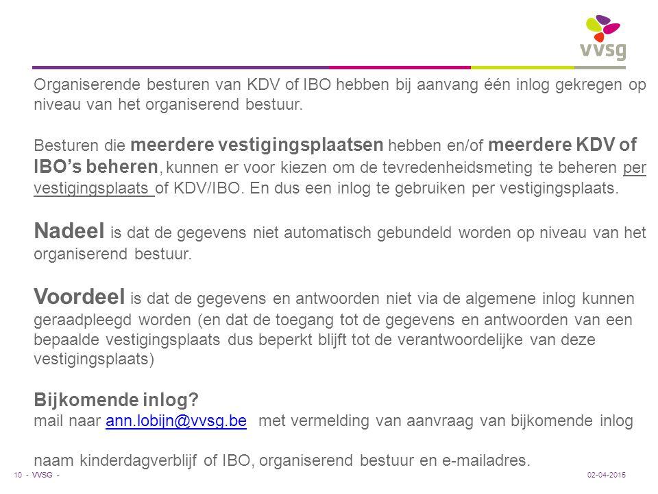 Organiserende besturen van KDV of IBO hebben bij aanvang één inlog gekregen op niveau van het organiserend bestuur.