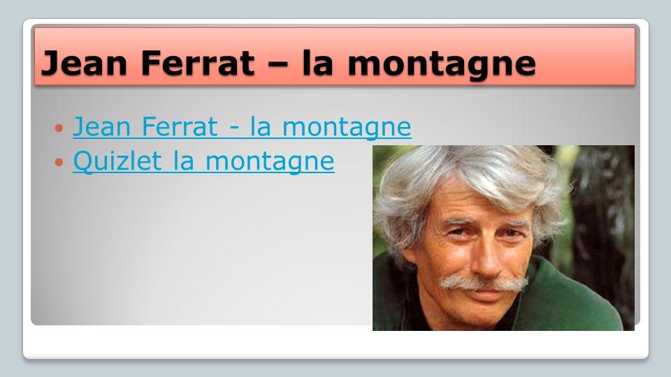 Jean Ferrat – la montagne