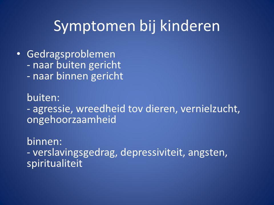 Symptomen bij kinderen