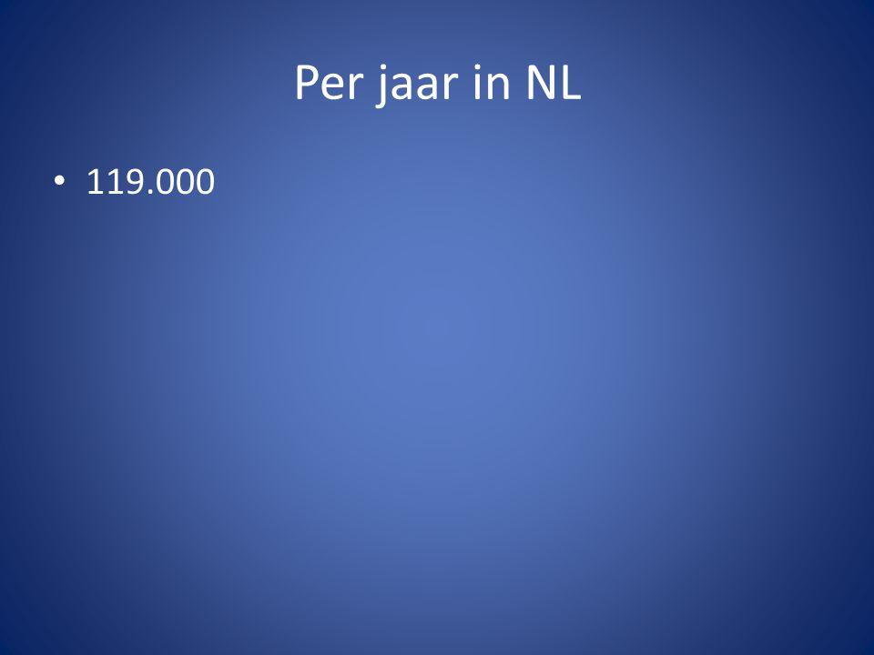 Per jaar in NL 119.000.