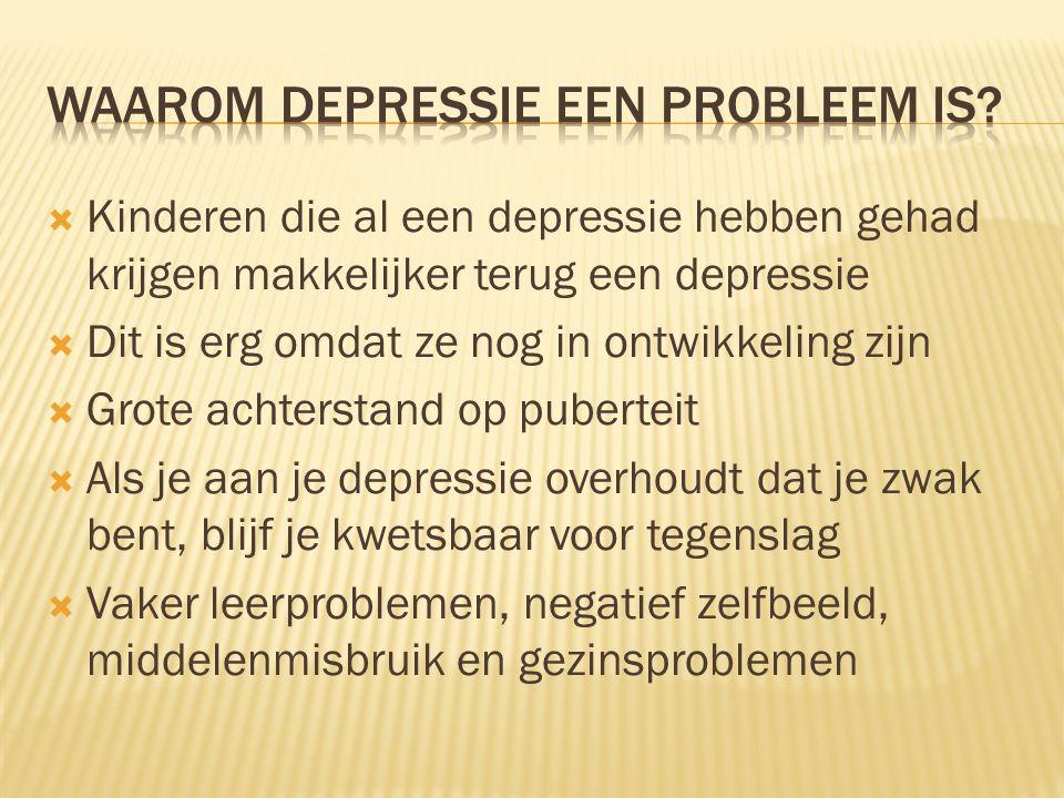 Waarom depressie een probleem is