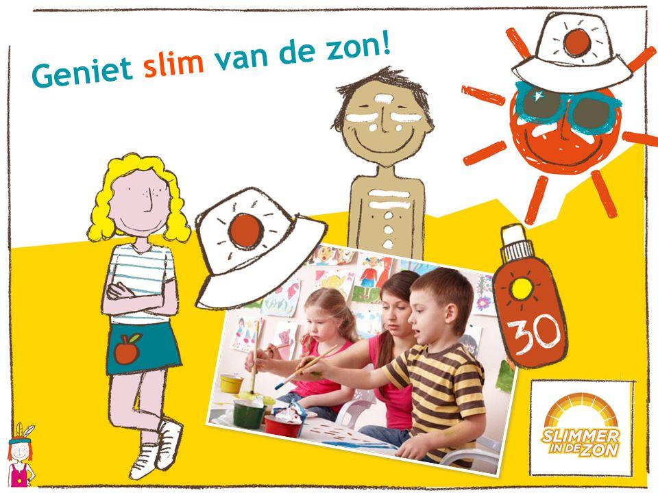 Geniet slim van de zon! Als afsluitende activiteit maken de kinderen een leuke tekening over zichzelf in de zon.