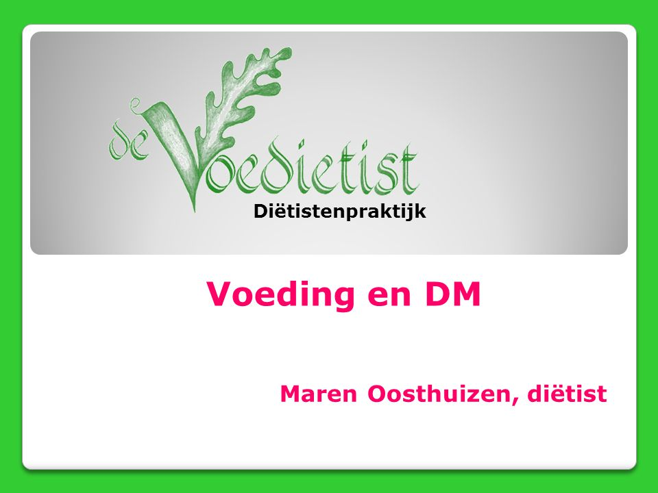 Maren Oosthuizen, diëtist