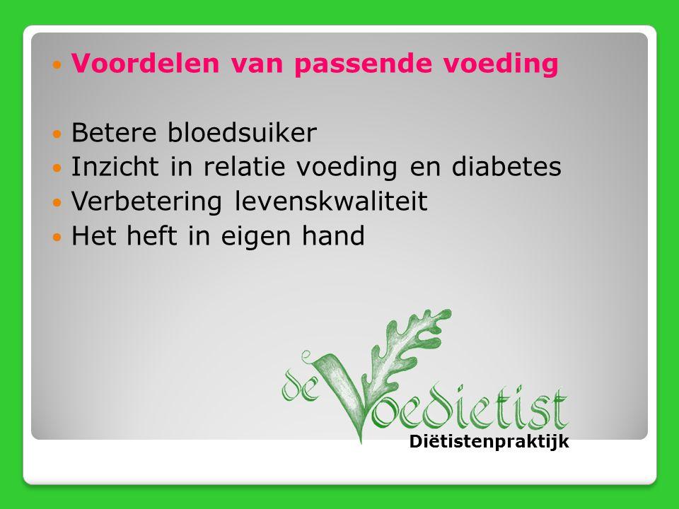 Voordelen van passende voeding Betere bloedsuiker