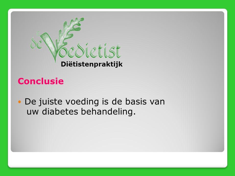 De juiste voeding is de basis van uw diabetes behandeling.