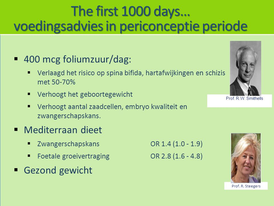 voedingsadvies in periconceptie periode