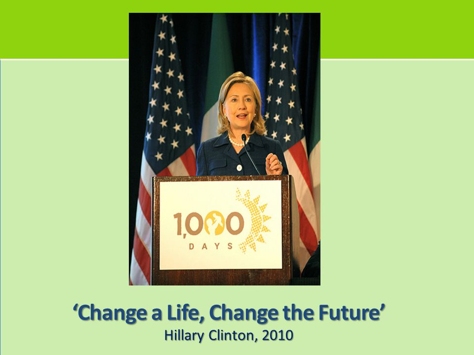 'Change a Life, Change the Future'