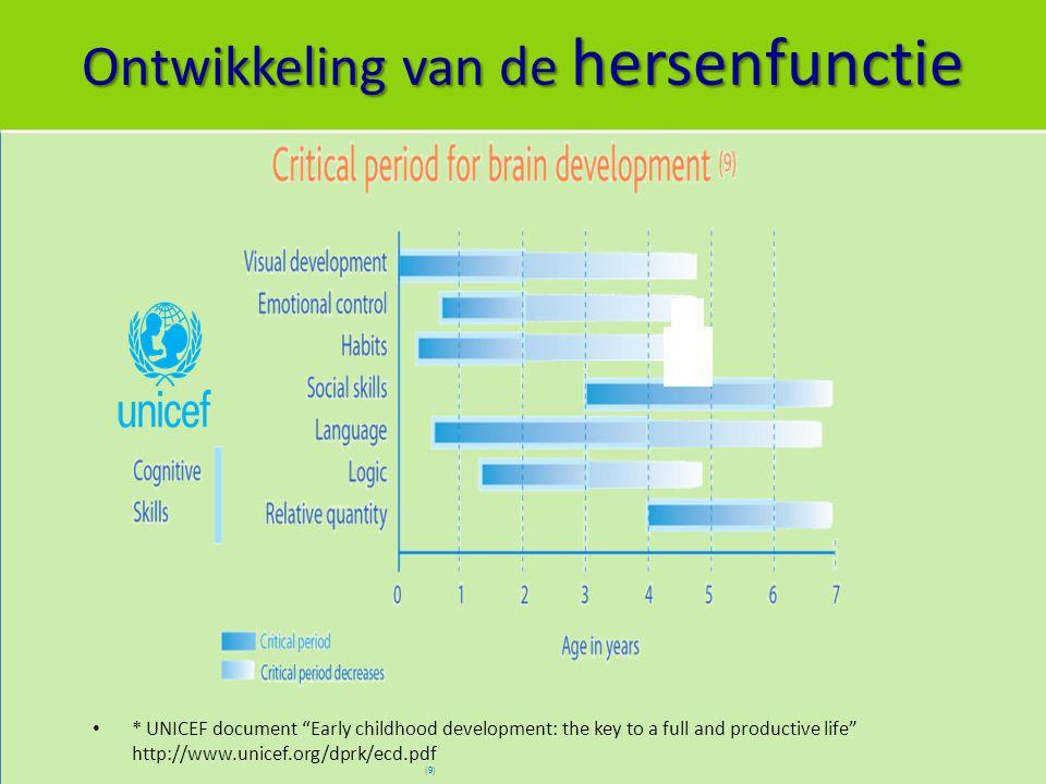 Ontwikkeling van de hersenfunctie