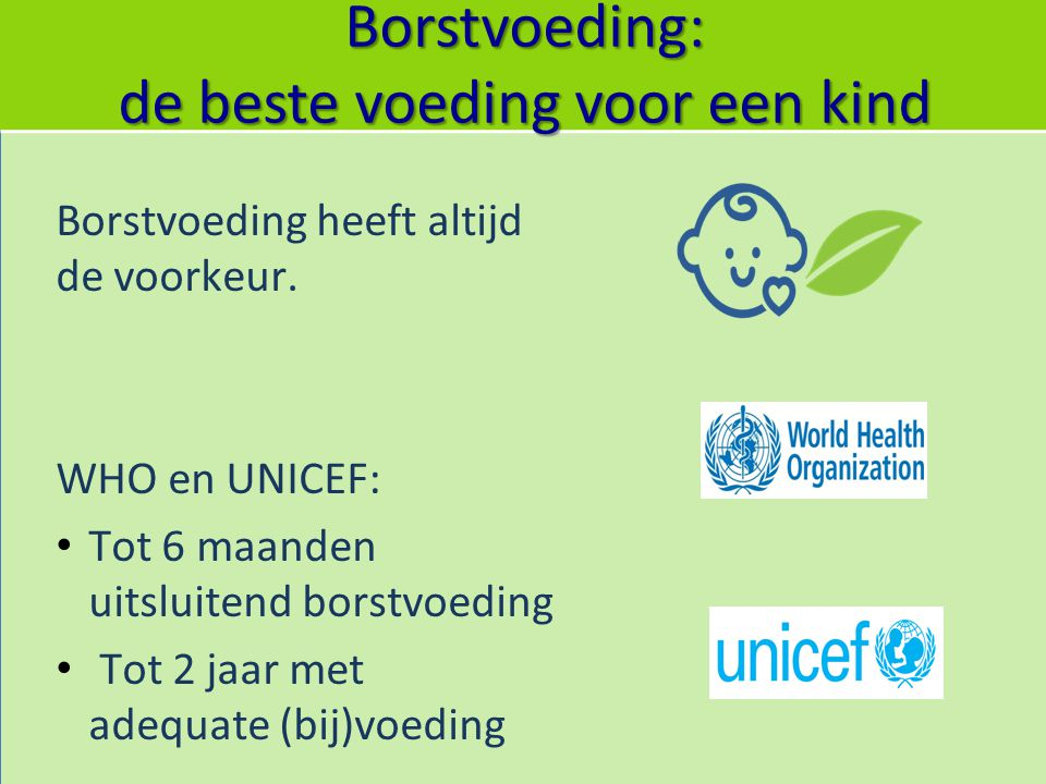 Borstvoeding: de beste voeding voor een kind