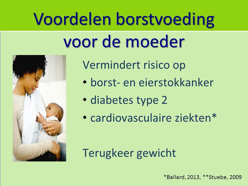 Voordelen borstvoeding voor de moeder