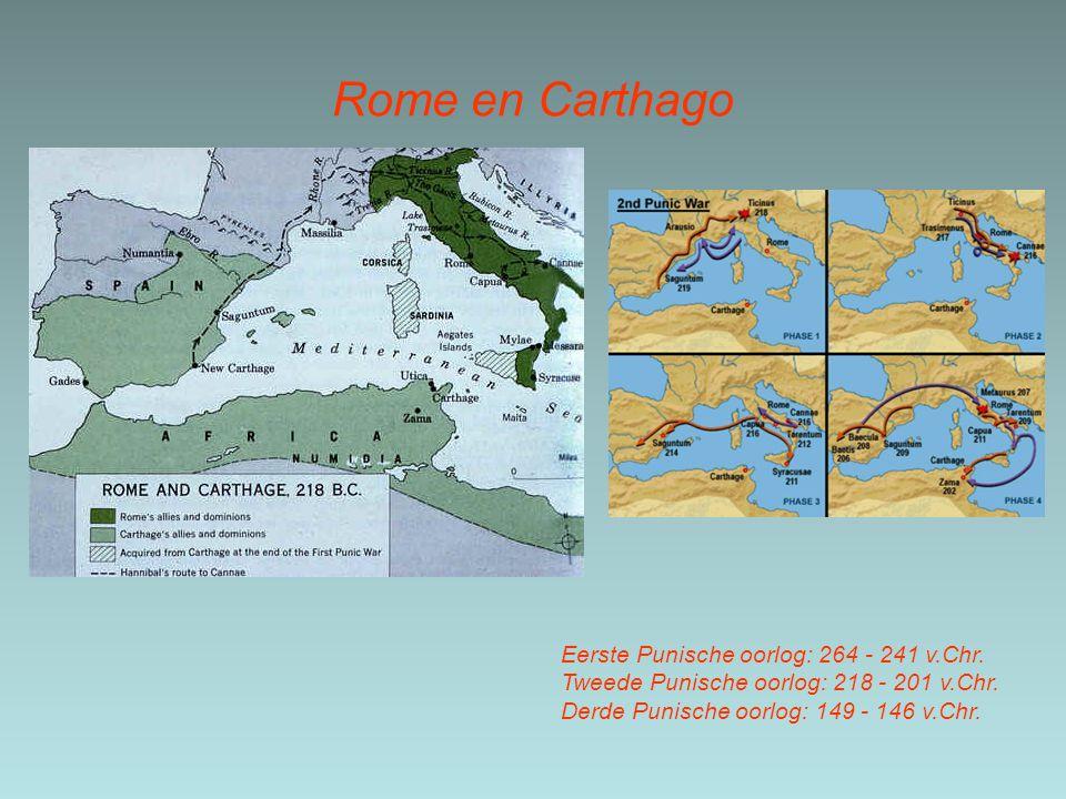 Rome en Carthago Eerste Punische oorlog: 264 - 241 v.Chr.