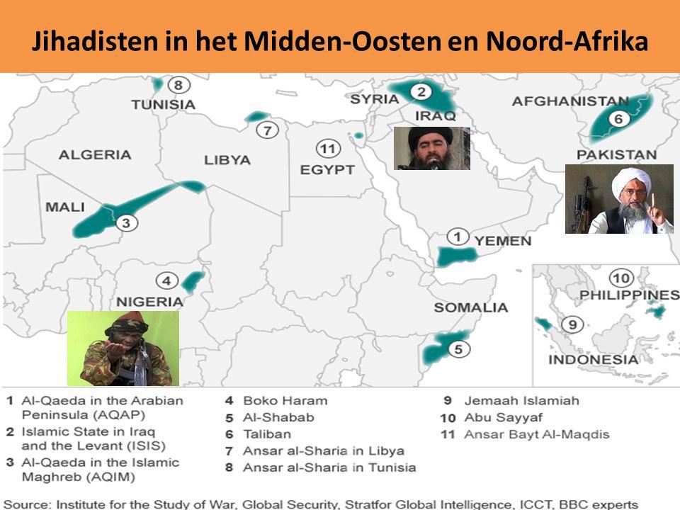 Jihadisten in het Midden-Oosten en Noord-Afrika