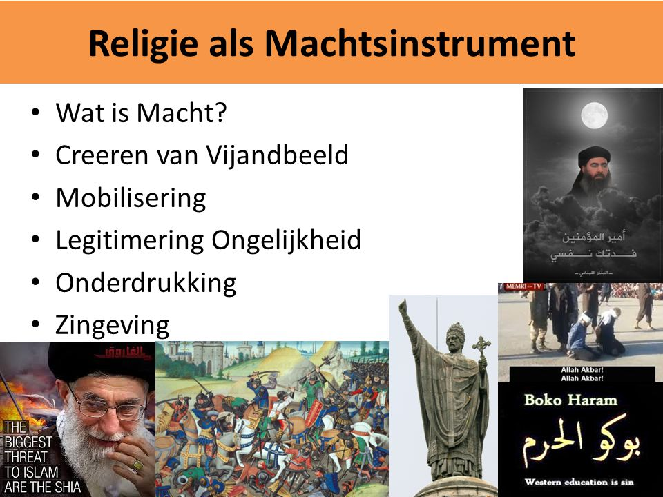 Religie als Machtsinstrument