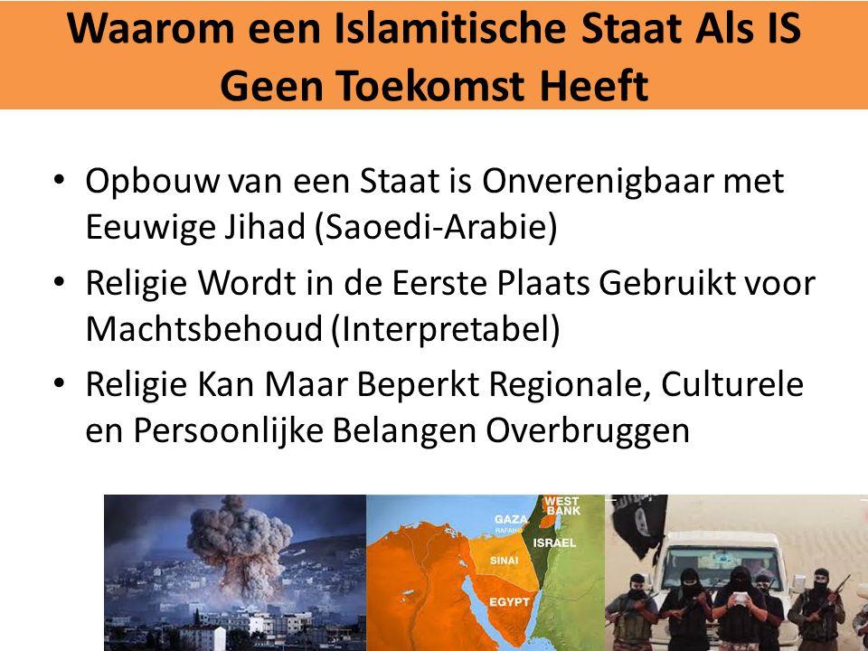 Waarom een Islamitische Staat Als IS Geen Toekomst Heeft