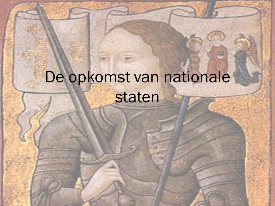 De opkomst van nationale staten