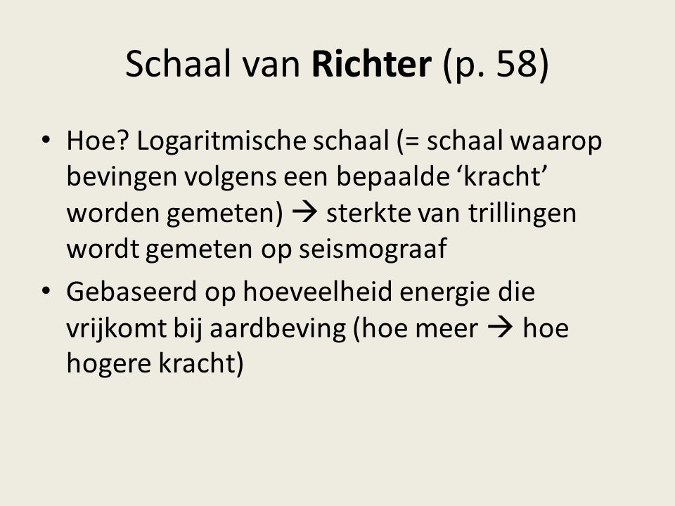 Schaal van Richter (p. 58)