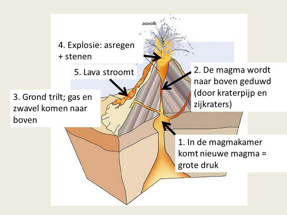4. Explosie: asregen + stenen