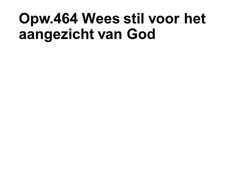 Opw.464 Wees stil voor het aangezicht van God