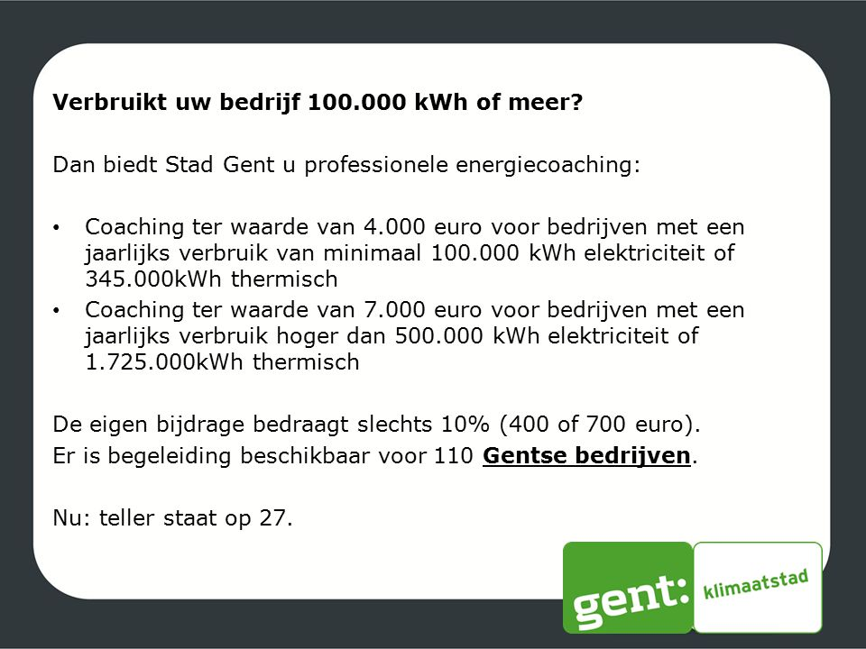 Verbruikt uw bedrijf 100.000 kWh of meer