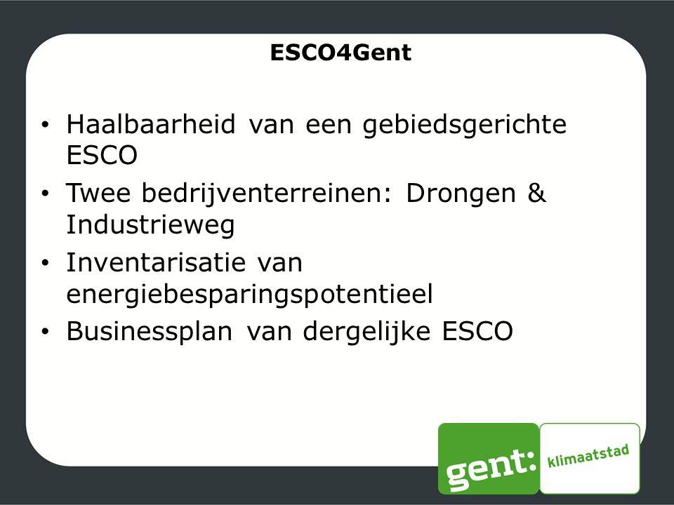 Haalbaarheid van een gebiedsgerichte ESCO