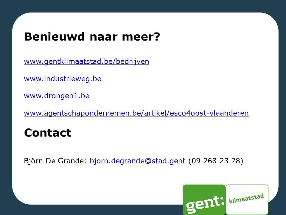 Benieuwd naar meer Contact www.gentklimaatstad.be/bedrijven