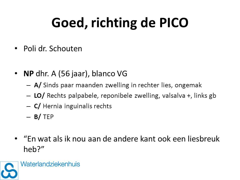 Goed, richting de PICO Poli dr. Schouten
