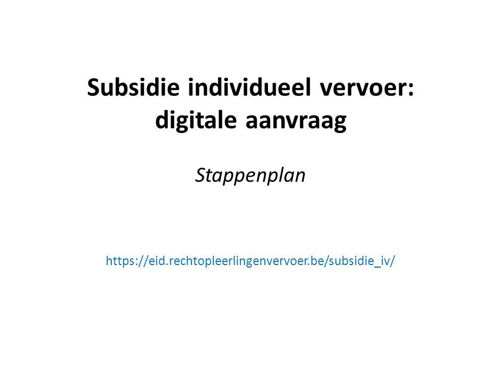 Subsidie individueel vervoer: