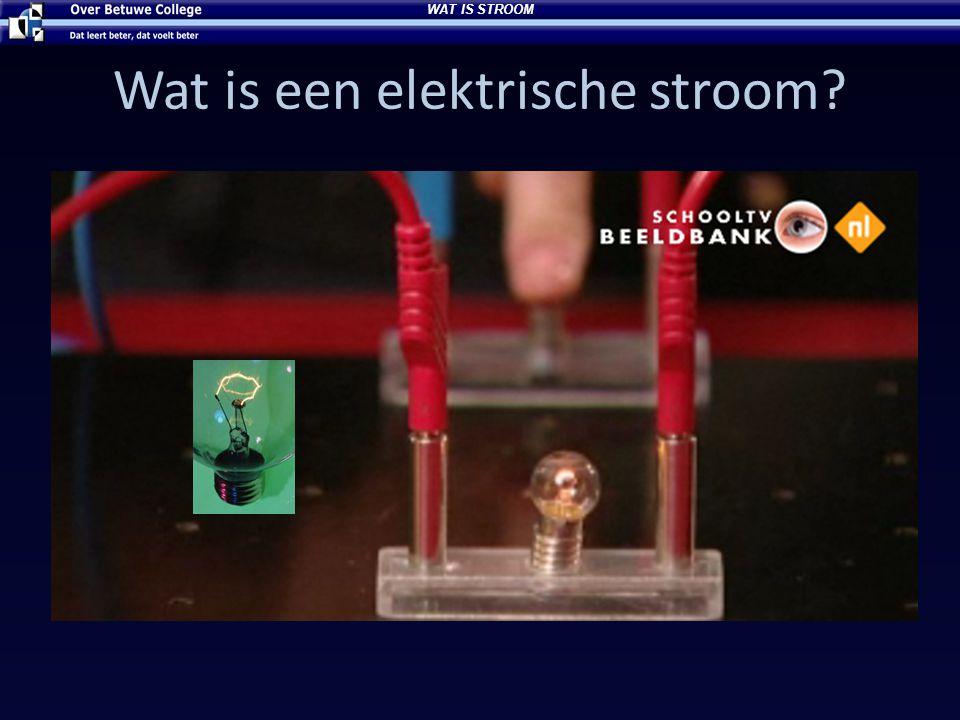 Wat is een elektrische stroom