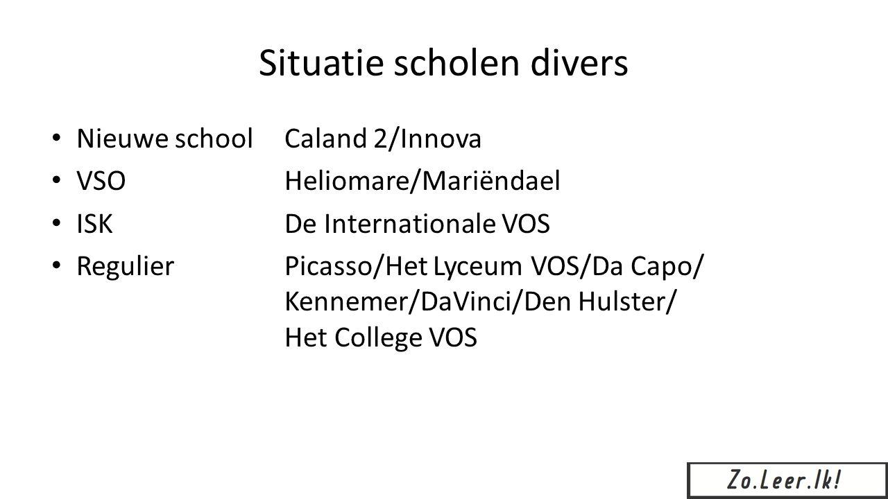 Situatie scholen divers