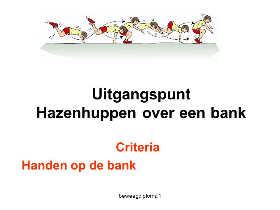 Uitgangspunt Hazenhuppen over een bank