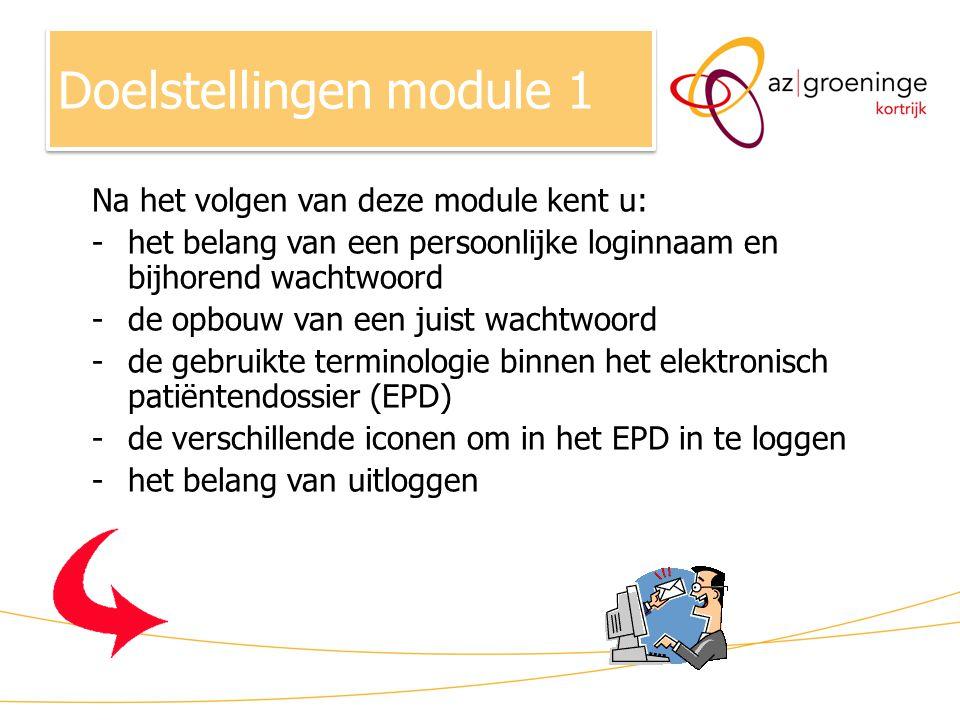 Doelstellingen module 1