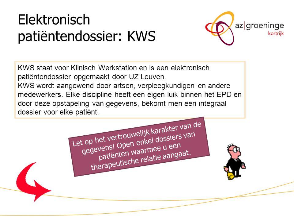 Elektronisch patiëntendossier: KWS