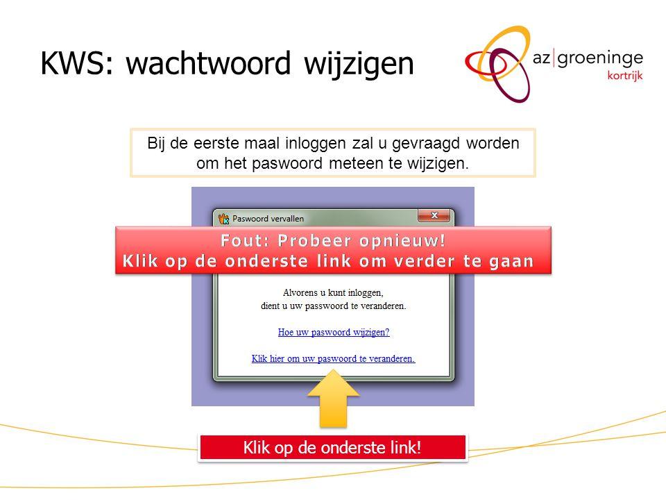 KWS: wachtwoord wijzigen