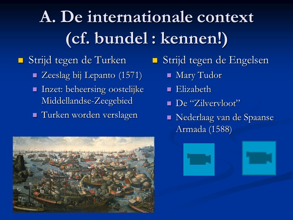 A. De internationale context (cf. bundel : kennen!)