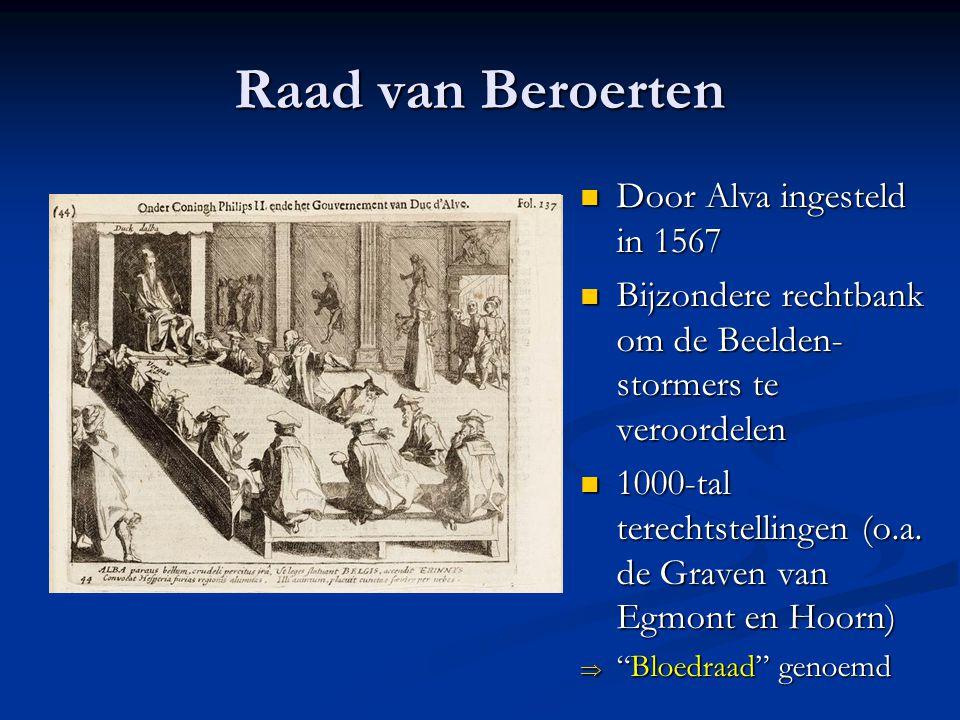 Raad van Beroerten Door Alva ingesteld in 1567