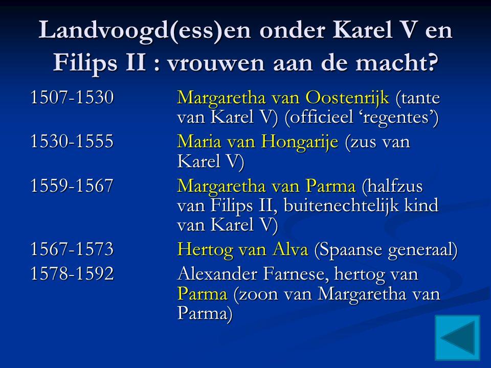 Landvoogd(ess)en onder Karel V en Filips II : vrouwen aan de macht