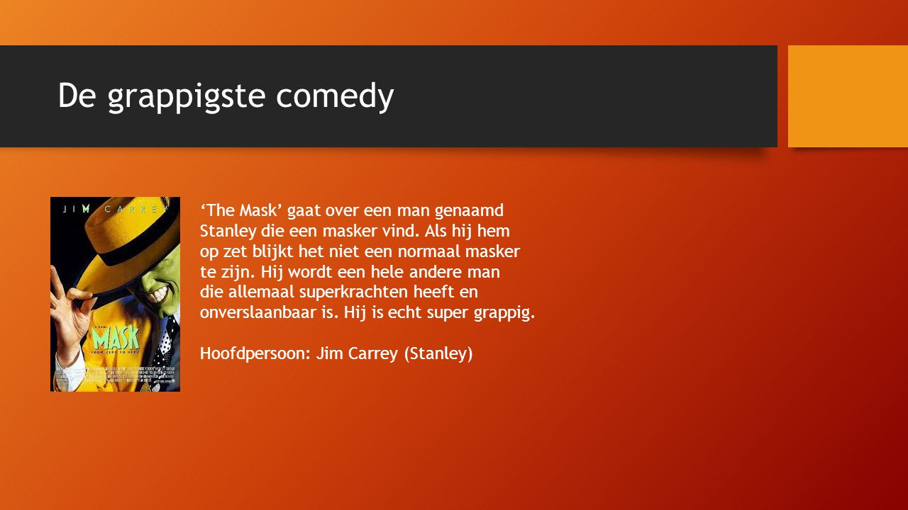 De grappigste comedy 'The Mask' gaat over een man genaamd