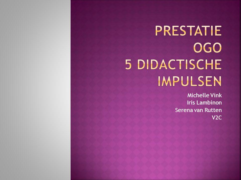 Prestatie ogo 5 didactische impulsen