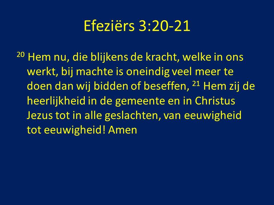 Efeziërs 3:20-21