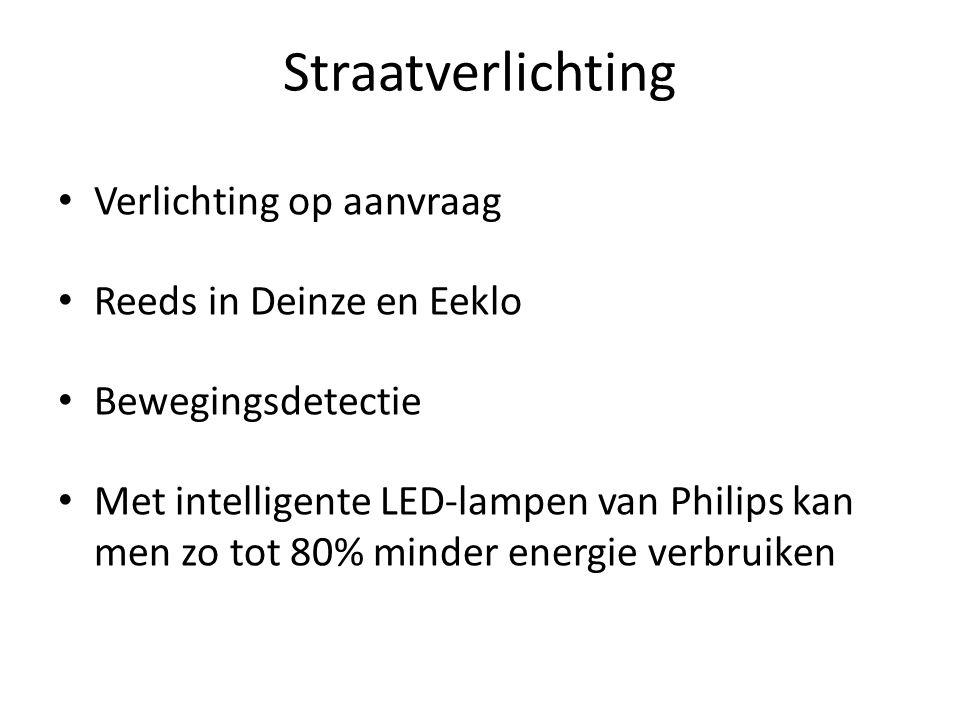 Straatverlichting Verlichting op aanvraag Reeds in Deinze en Eeklo