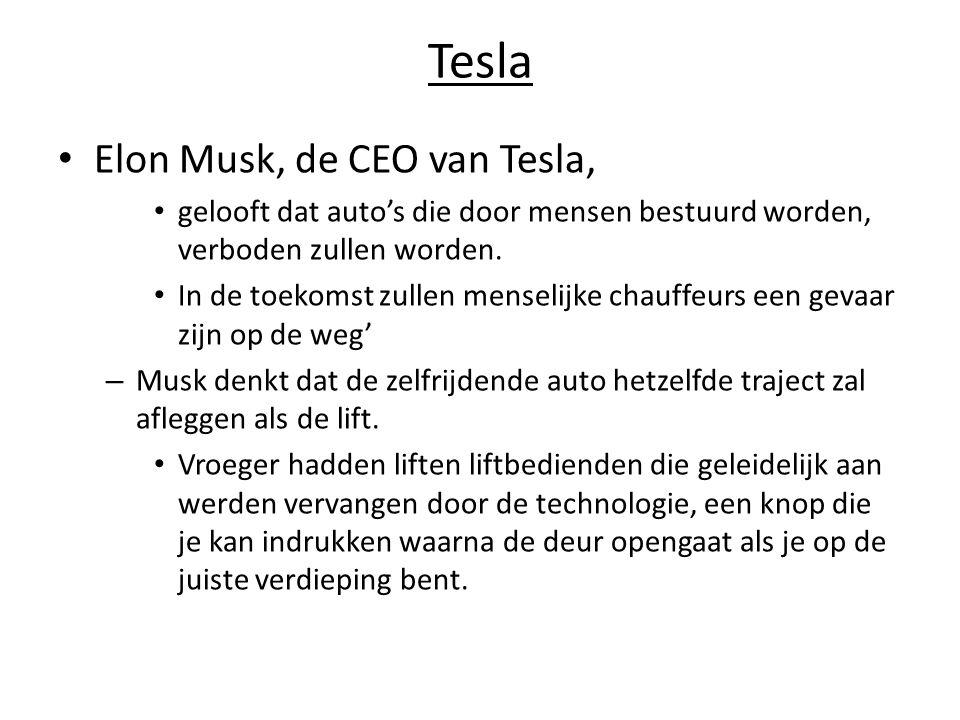 Tesla Elon Musk, de CEO van Tesla,