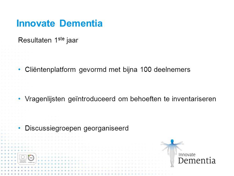 Innovate Dementia Resultaten 1ste jaar
