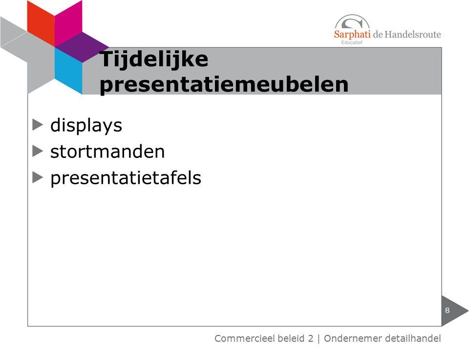 Tijdelijke presentatiemeubelen