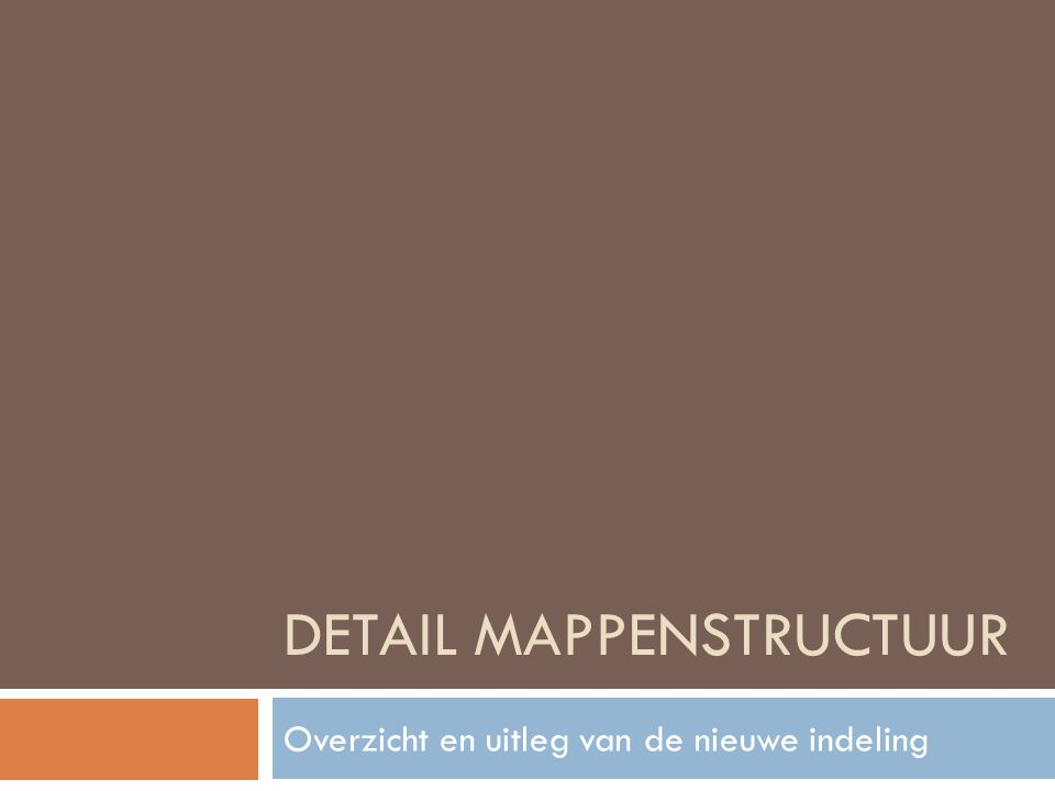 Detail Mappenstructuur